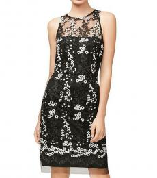 Betsey Johnson Black/White Embroidered Party Dress