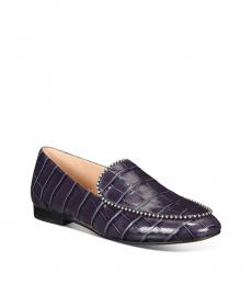 Ink Croc Harper Beadchain Loafers