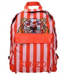 Kenzo Orange Tiger Large Backpack