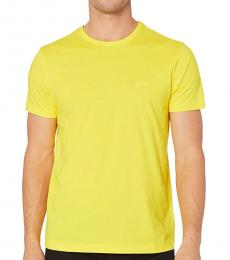 Yellow Curved Solid T-Shirt