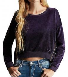 True Religion Deep Plum Boyfriend Sweatshirt