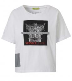 Versace Jeans White Couture Logo Top