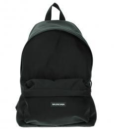 Balenciaga Black Zip Pocket Large Backpack