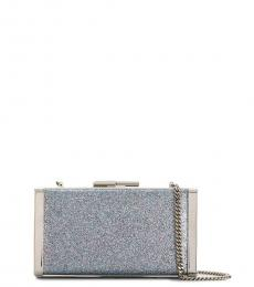 Jimmy Choo Blue Silver J Box Clutch