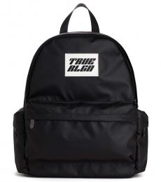 True Religion Black Logo Medium Backpack