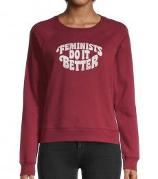 Rebecca Minkoff Dark Red Cotton-Blend Sweatshirt
