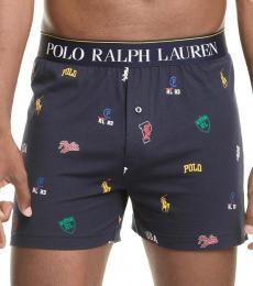 Ralph Lauren Navy Blue Signature Knit Boxers