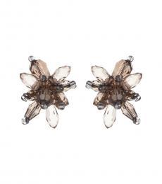 Kate Spade Grey Crystal Explosion Stud Earrings