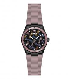 Coach Lighter Lilac Carriage Print Watch