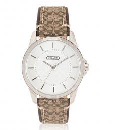 Coach Brown Classic Signature Watch