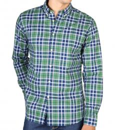 Hackett Green Checkered Slim fit Casual Shirt