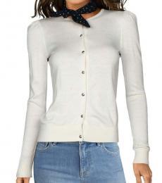 Ralph Lauren Winter Cream Rosina Puff Sleeves Sweater