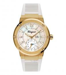 Salvatore Ferragamo Gold Plated Motion Watch