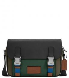 Coach Green Track Medium Messenger Bag