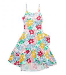 BCBGirls Little Girls White Multi Floral Dress
