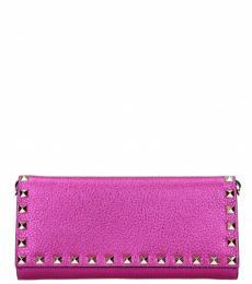 Dark Pink Studded Wallet