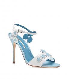 Blue White Kakanga Heels