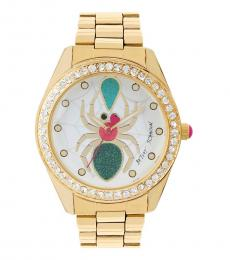 Betsey Johnson Gold Spider Stylish Watch