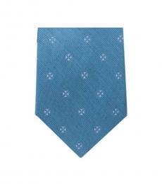 Michael Kors Light Blue Modern Slim Silk Tie