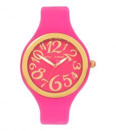 Betsey Johnson Pink Gleaming Watch