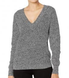 Black V-Neck Pullover Sweater