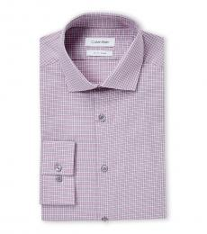 Pink Multi Check Slim Fit Dress Shirt
