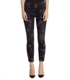 Black Roxanne Floral Jeans