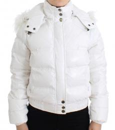 Just Cavalli White Puffer Jacket