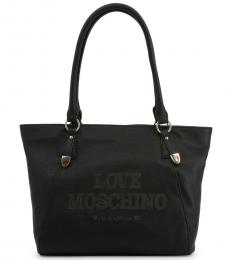Love Moschino Black Made With Love Large Tote
