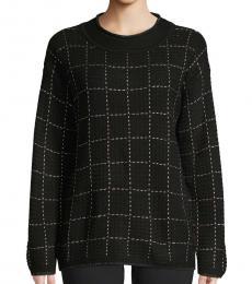 Black Windowpane Sweater