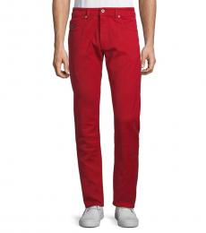 Red Thommer Trousers
