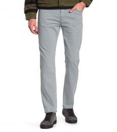 Light Grey Adrien Slim Straight Jeans