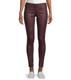 AG Adriano Goldschmied Vintage Leatherette Skinny Ankle Jeans