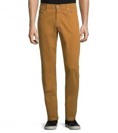 Burnt Saffron Graduate Slim Straight-Fit Jeans