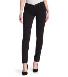AG Adriano Goldschmied Black Straight Fit Pants