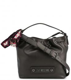 Love Moschino Dark Grey Scarf Medium Bucket Bag