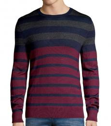 Calvin Klein Heartwood Striped Wool-Blend Sweater