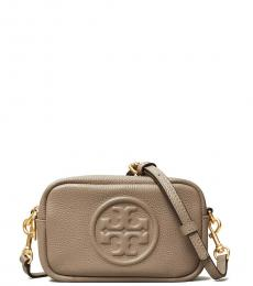 Tory Burch Gray Heron Perry Mini Crossbody