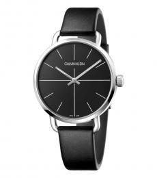 Black Even Black Dial Watch