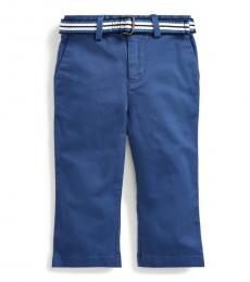 Ralph Lauren Baby Boys Light Navy Belted Chinos