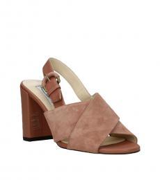 Tod's Pink Crisscross Strap Heels