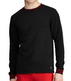 Ralph Lauren Polo Black Brushed Fleece Shirt