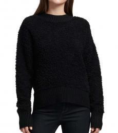 Black Fuzzy Pullover Sweater