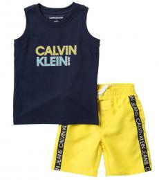 Calvin Klein 2 Piece Tank/Swim Shorts Set (Little Boys)