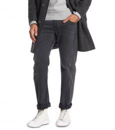 Diesel Dark Grey Larkee Straight Leg Jeans