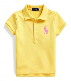 Ralph Lauren Little Girls Signal Yellow Big Pony Polo