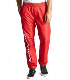 True Religion Red Logo Track Pants