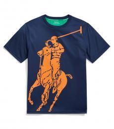 Ralph Lauren Boys Newport Navy Big Pony Performance T-Shirt
