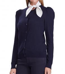 Ralph Lauren Lauren Navy Slim-Fit Cardigan