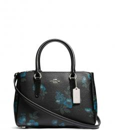 Black Surrey Floral Small Satchel